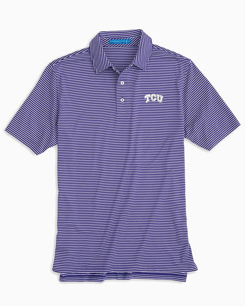 TCU Horned Frogs Striped Polo Shirt | Southern Tide