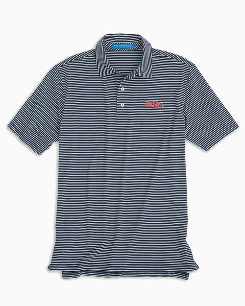 Ole Miss Rebels Striped Polo Shirt | Southern Tide