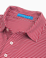 Oklahoma Sooners Striped Polo Shirt | Southern Tide