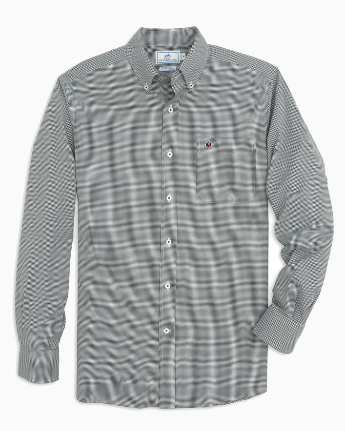 Georgia Bulldogs Gingham Button Down Shirt