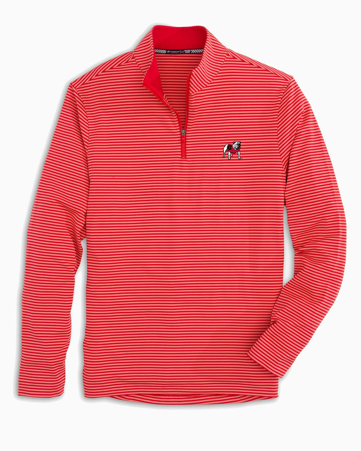 Georgia Bulldogs Striped Quarter Zip Pullover
