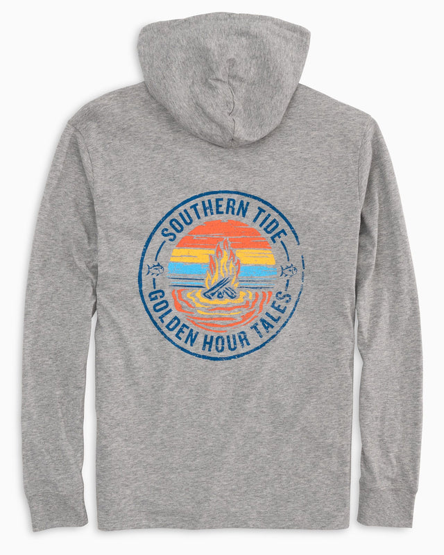 Golden Hour Tales Long Sleeve Hoodie T-shirt | Southern Tide