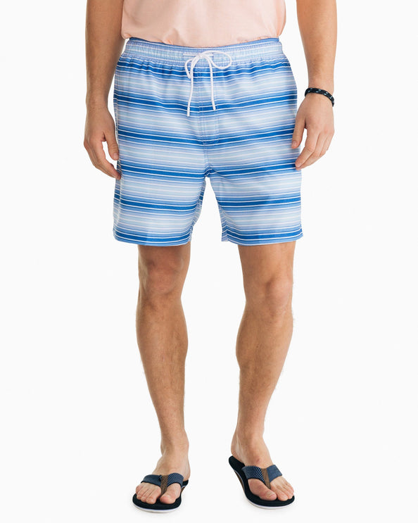 Gradient Stripe Swim Trunk