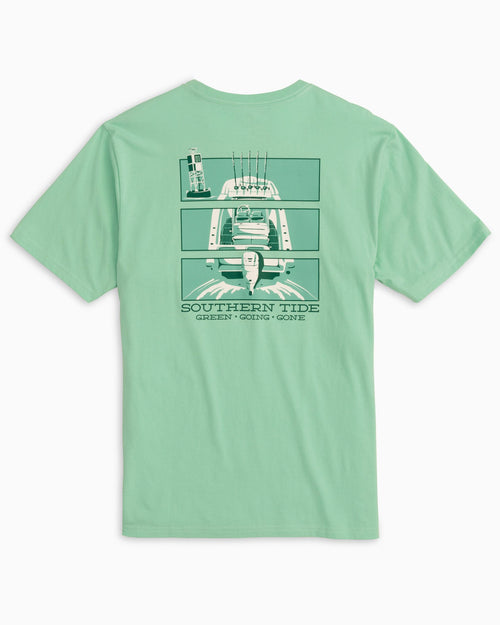 The back of the Men's Green Going Gone Triptyc T-Shirt by Southern Tide