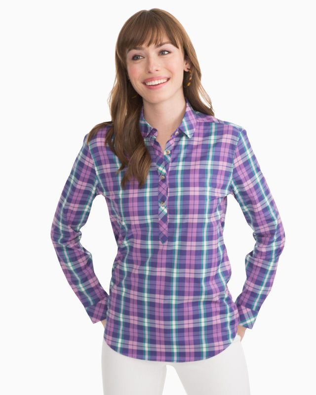 Grove Plaid Hadley Intercoastal Performance Popover | Southern Tide