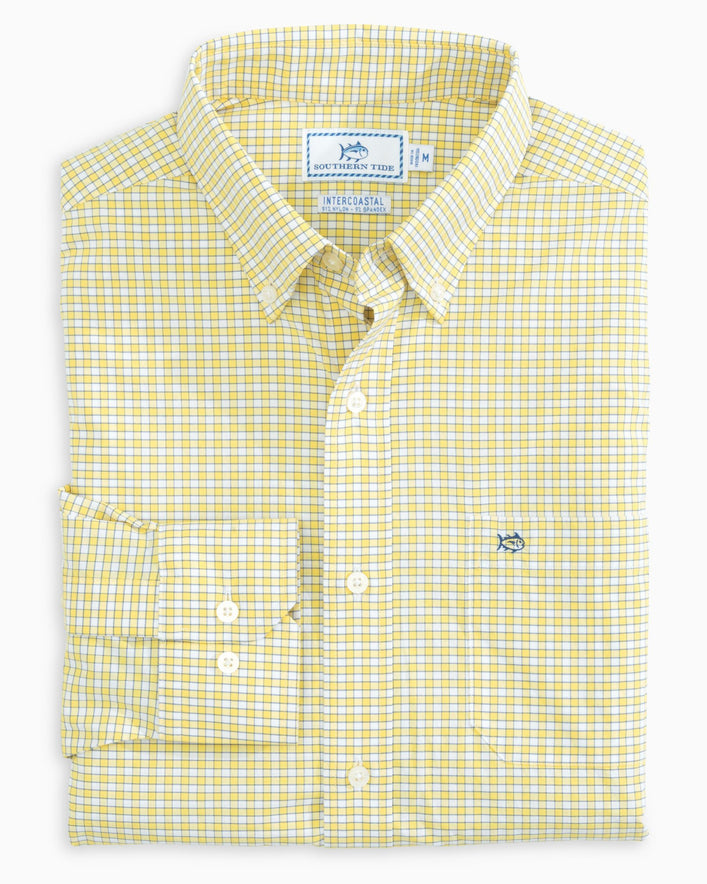 Guarded Gingham Intercoastal Performance Sport Shirt