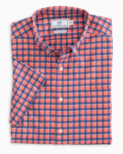 Gunwale Check Intercoastal Short Sleeve Sport Shirt | Southern Tide