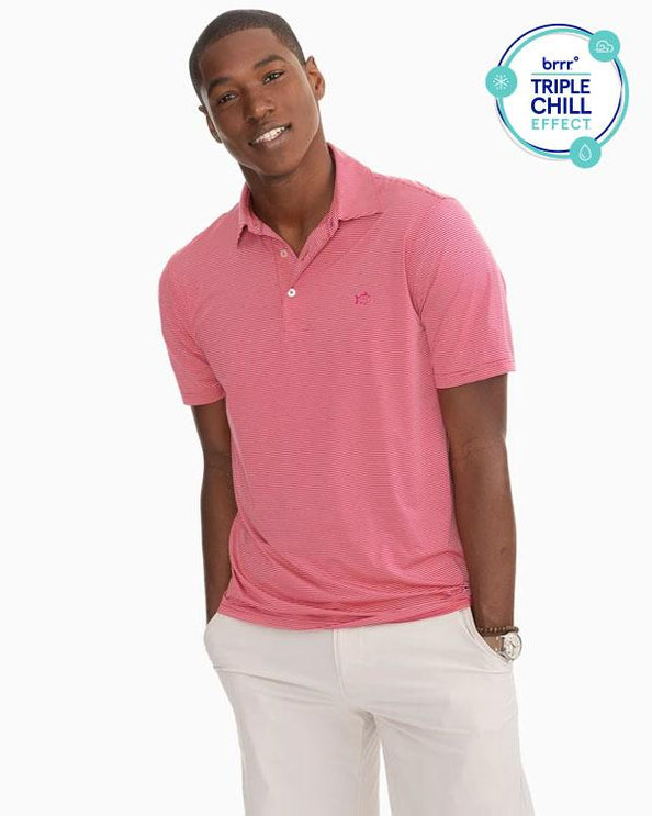 Haig Point brrr Performance Striped Polo Shirt