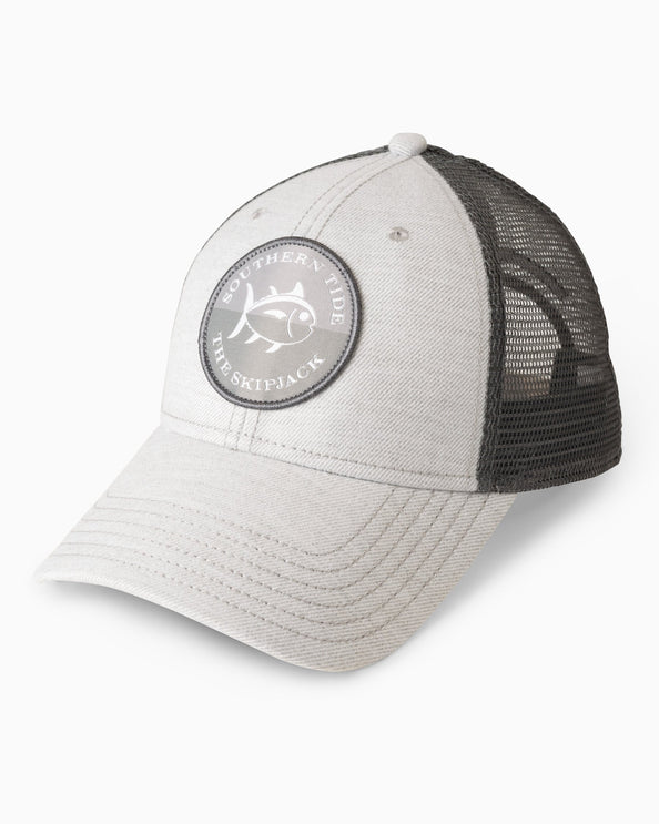 Heathered Skipjack Circle Patch Trucker Hat