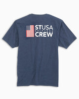 Heathered ST USA T-Shirt | Southern Tide