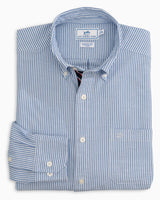 Icy Striped Stretch Oxford Button Down Shirt | Southern Tide