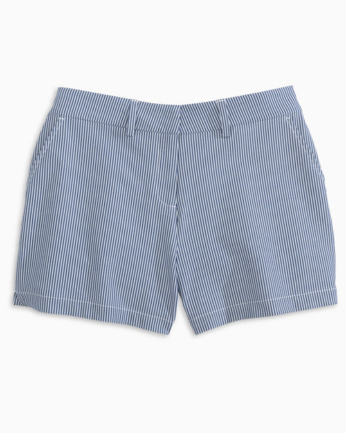 The front view of the Women's Inlet 4 Inch Performance Seersucker Short by Southern Tide