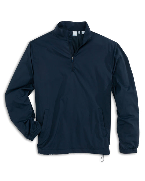 The front view of the Men's Navy Intercoastal Quarter Zip Pullover by Southern Tide