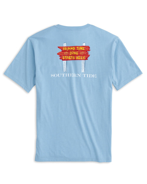 The back of the Men's Island Time Zone T-Shirt by Southern Tide