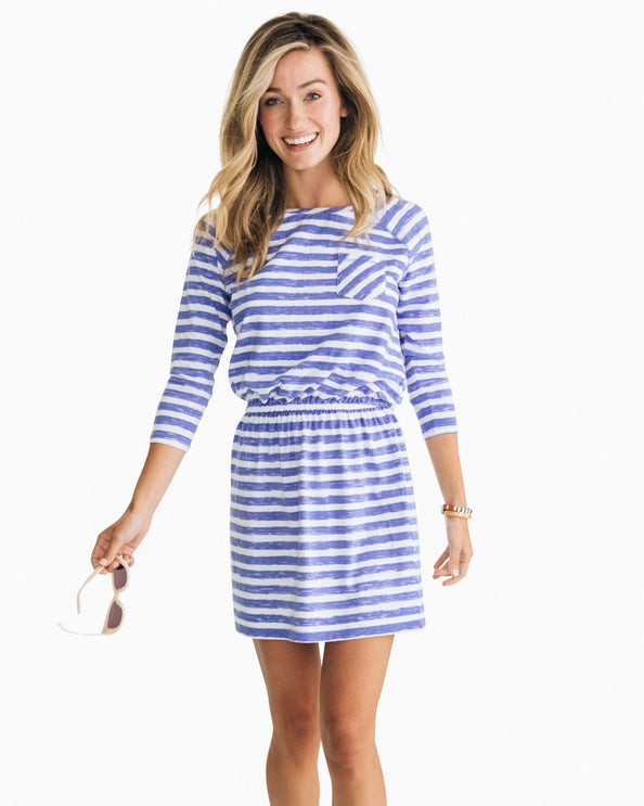 Jenna Long Sleeve Striped Dress