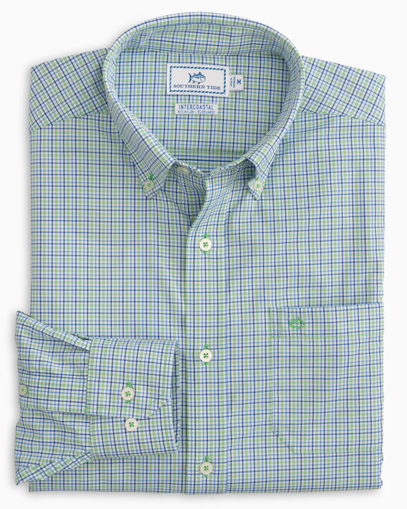 Jibe Plaid Intercoastal Performance Sport Shirt