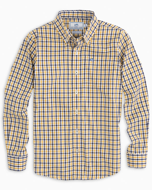 Boys Jump In Intercoastal Check Button Down Shirt