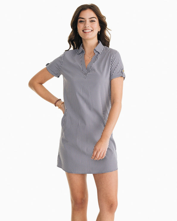 Kamryn brrr® Intercoastal Gingham Shirt Dress