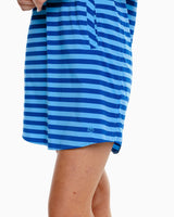 The front view of the Women's Kamryn Striped Brrr Shirt Dress by Southern Tide