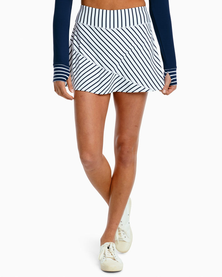Katlyn Striped Athletic Skort