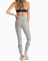 The front view of the Women's Grey Kayly High Waisted Active Legging by Southern Tide