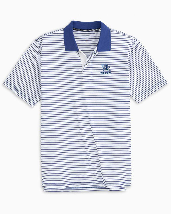 Kentucky Wildcats Pique Striped Polo Shirt