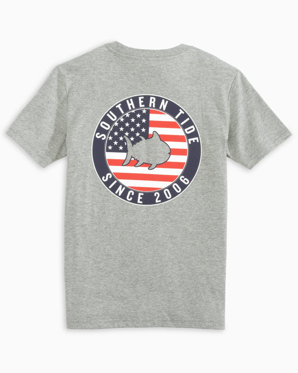 Kids American Flag Seal T-Shirt