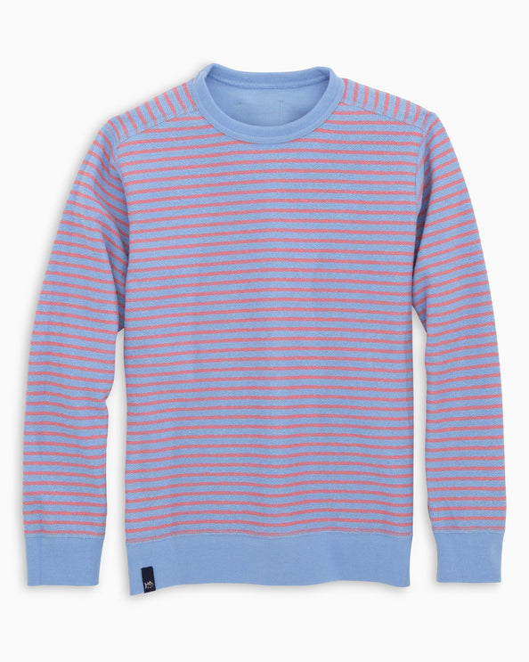 Boys Striped Reversible Upper Deck Pullover