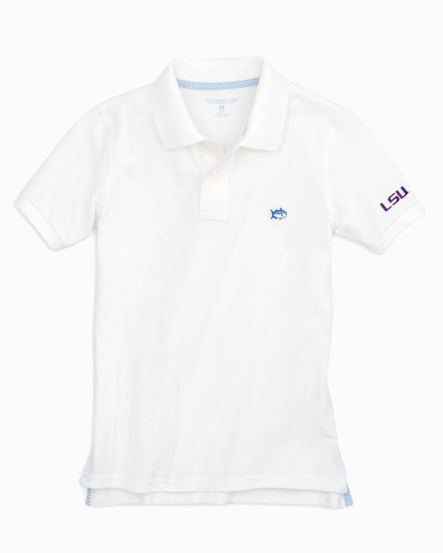 Kids Gameday Skipjack Polo - Louisiana State University | Southern Tide