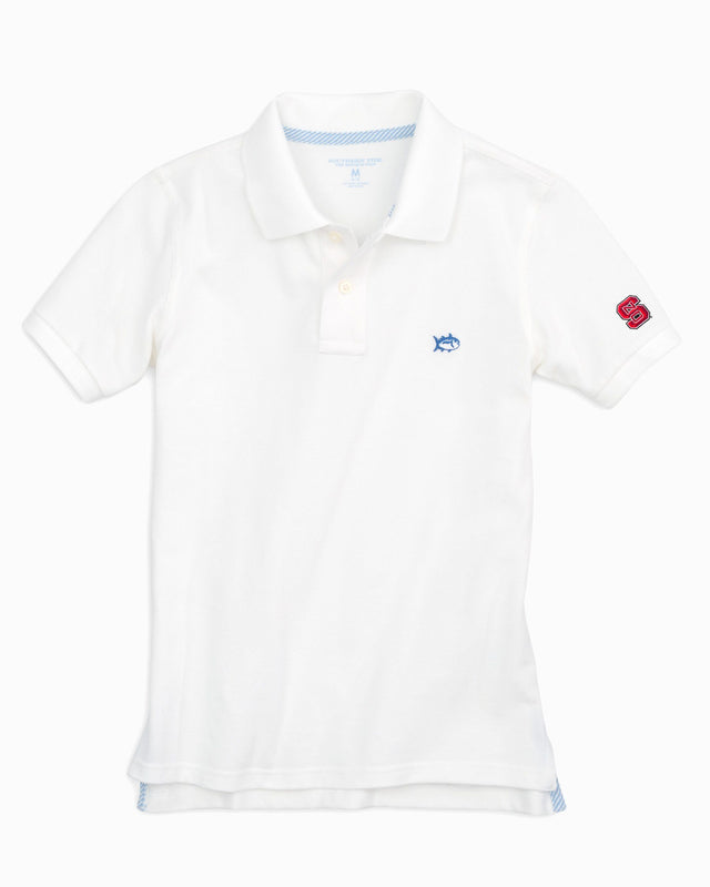 Kids Gameday Skipjack Polo - North Carolina State University | Southern Tide