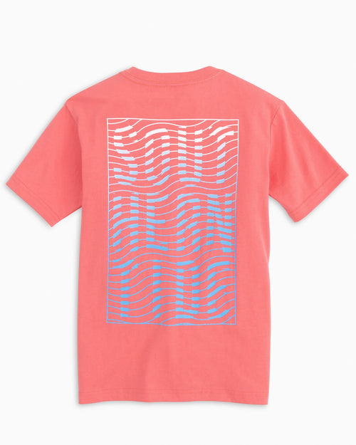 Kids Gradient Wave T-Shirt | Southern Tide