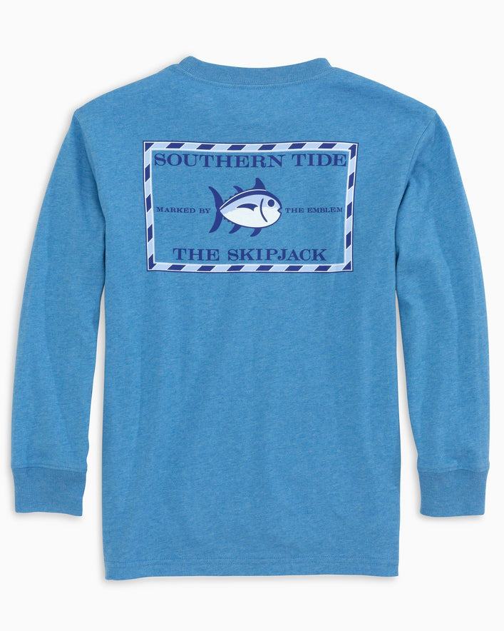 Kids Heathered Original Skipjack Long Sleeve T-Shirt
