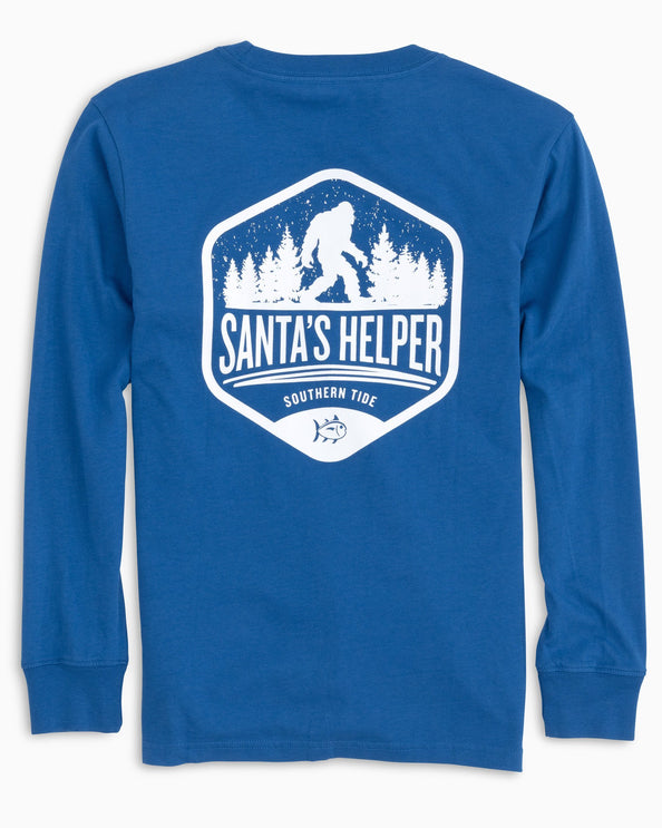 Kids Long Sleeve Santa's Helper T-Shirt
