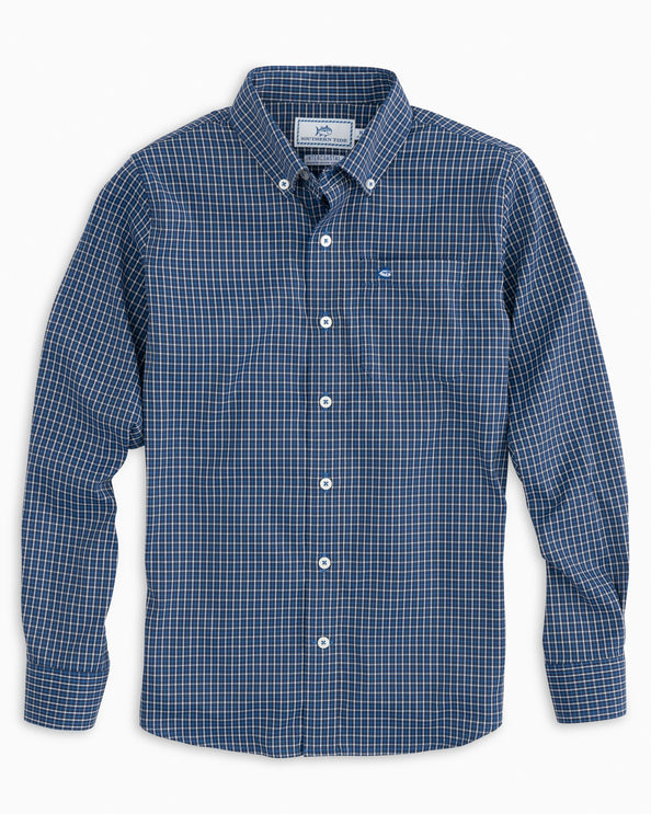 Boys Oak Intercoastal Plaid Sport Shirt