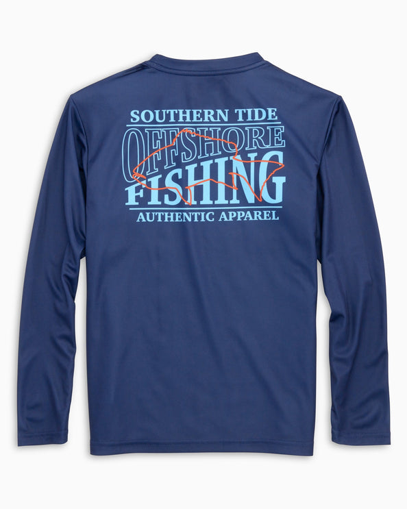 Kids Offshore Fishing Performance Long Sleeve T-Shirt