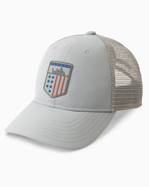 The front of the Kids Performance USA Trucker Hat by Southern Tide