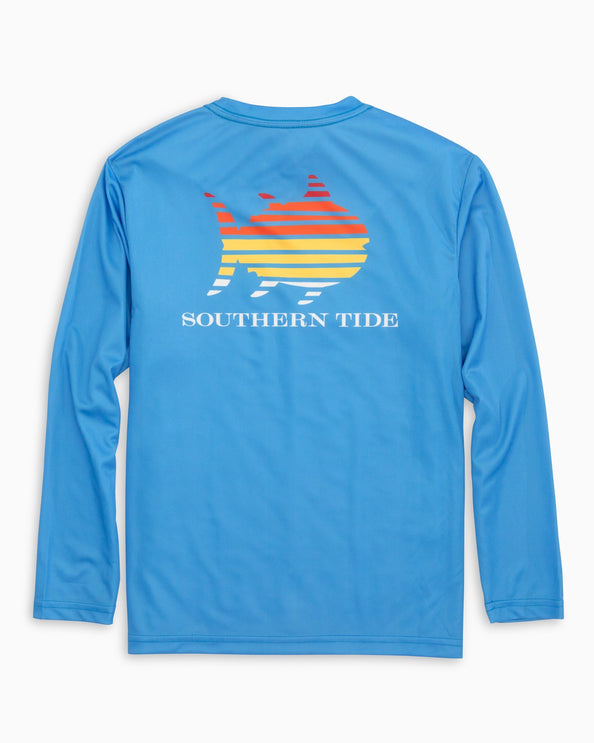 Kids Skipjack Sunset Performance Long Sleeve T-Shirt