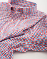 Leeway Gingham Intercoastal Performance Sport Shirt | Southern Tide