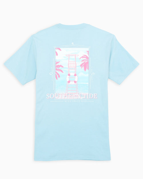The back view of the Women's Light Blue Lifeguard T-Shirt by Southern Tide