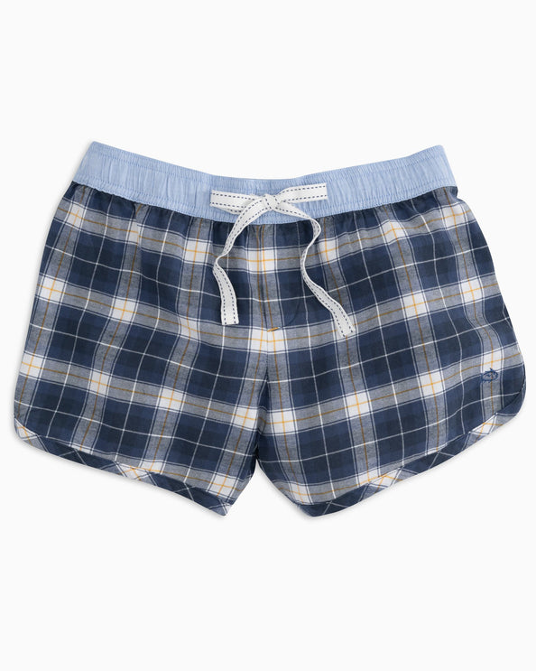 Lighthouse Plaid Lounge Short