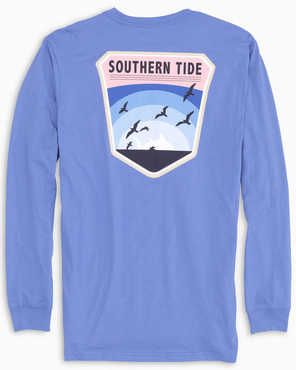 Long Sleeve Coastal Badge T-Shirt