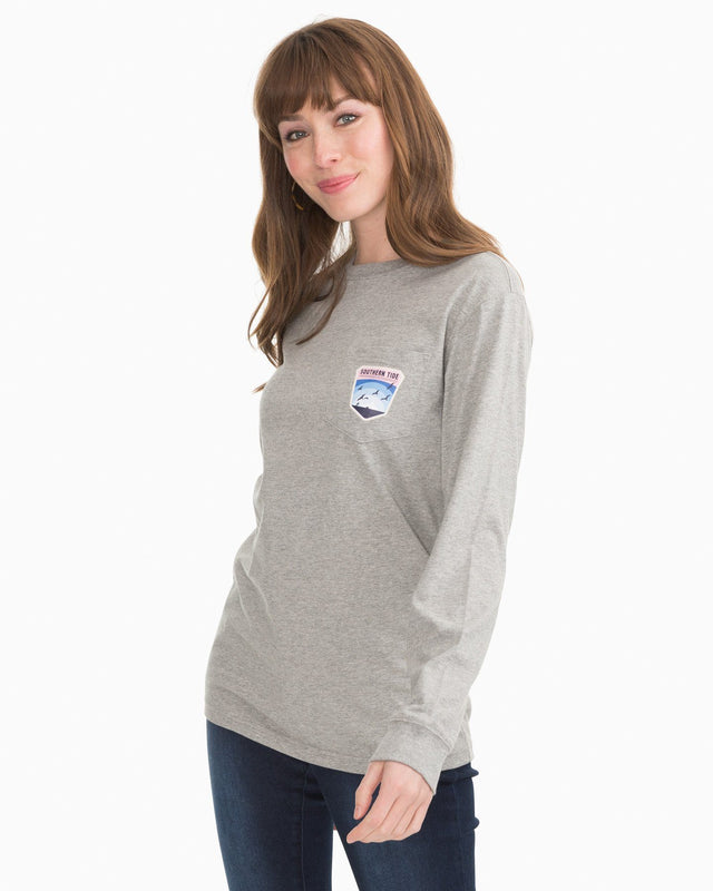 Long Sleeve Coastal Badge T-Shirt | Southern Tide