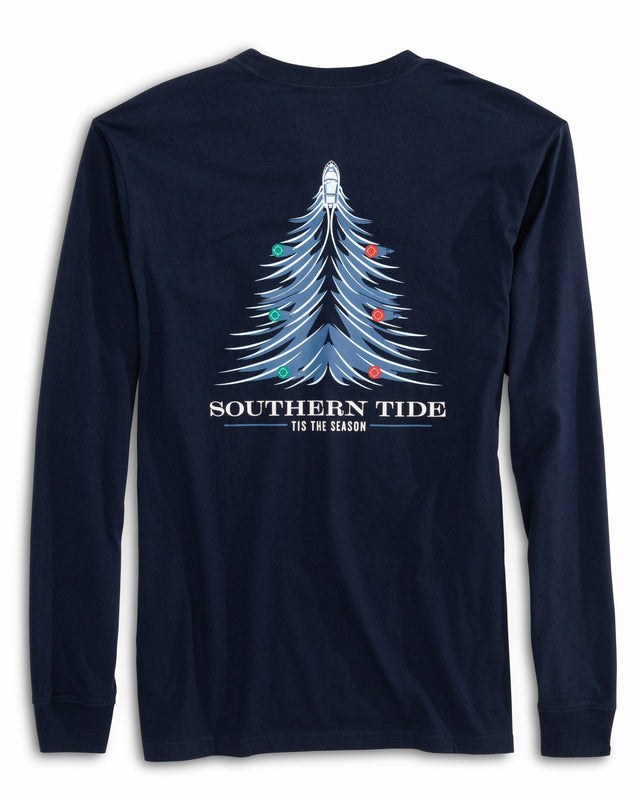 Long Sleeve Holiday Waves T-Shirt | Southern Tide