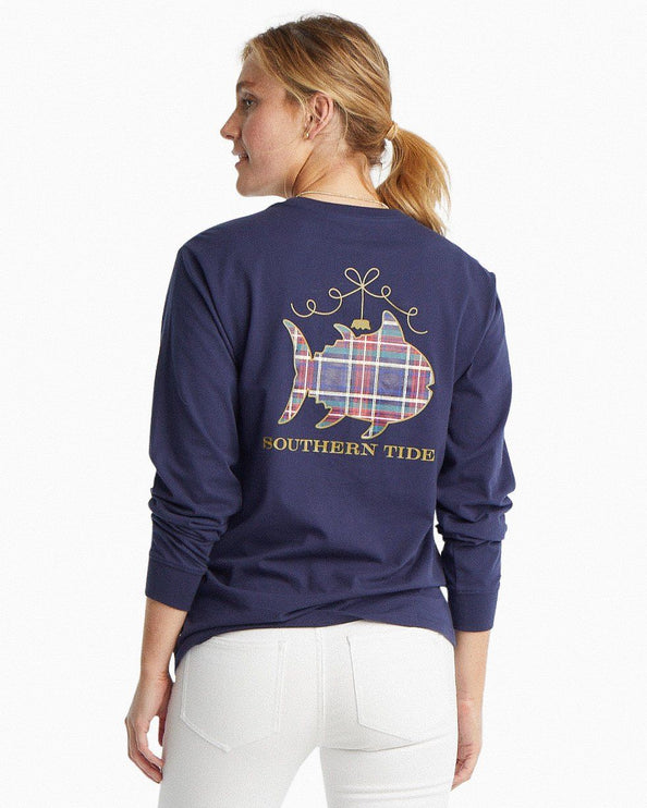 Long Sleeve Christmas Ornament Graphic T-Shirt