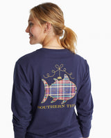 Long Sleeve Christmas Ornament Graphic T-Shirt | Southern Tide