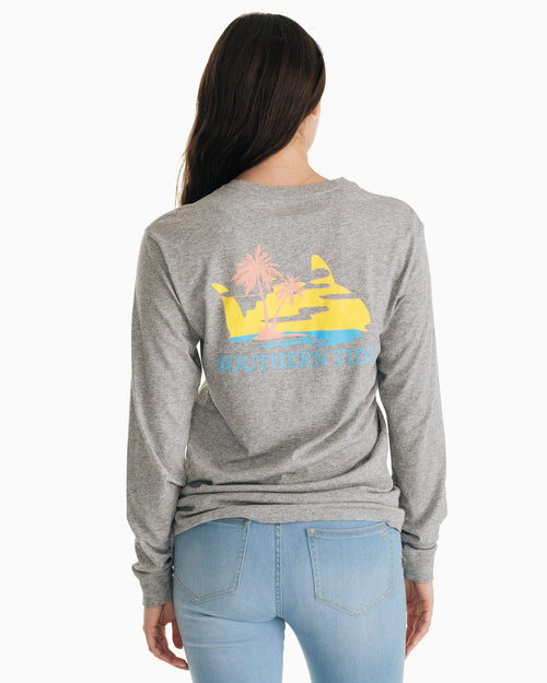 Skipjack Sunset Long Sleeve T-Shirt | Southern Tide
