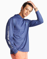 Long Sleeve Skipjack Waves Performance Hoodie T-Shirt | Southern Tide