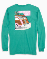 Long Sleeve Southern Sunset Drive T-Shirt | Southern Tide