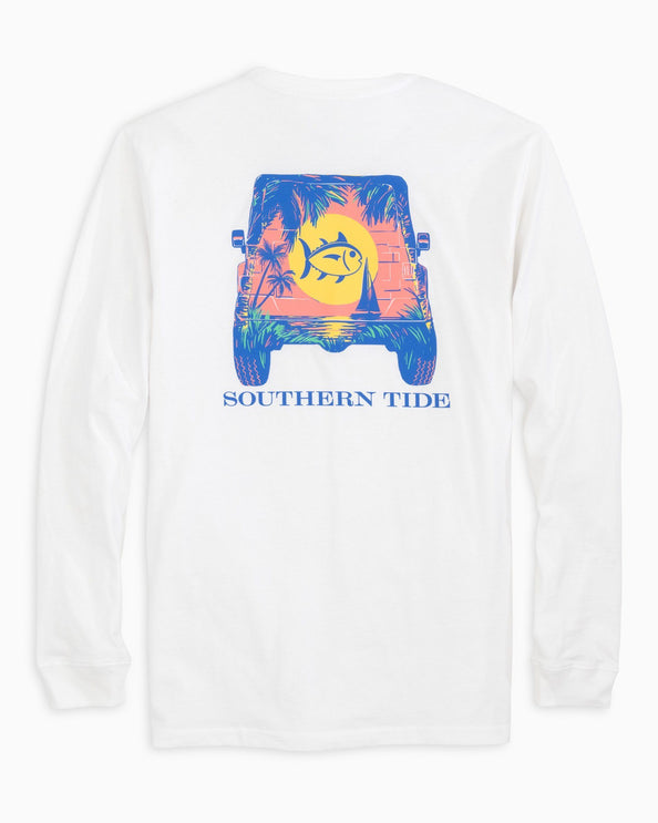 Long Sleeve Sunset Jeep T-Shirt