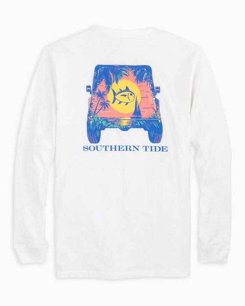 Long Sleeve Sunset Jeep T-Shirt | Southern Tide